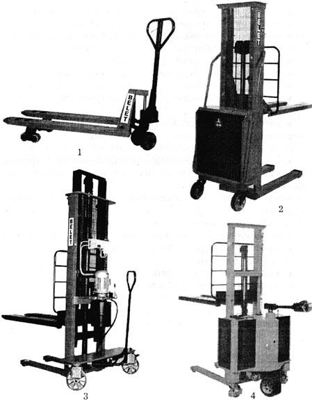 ...оборудования входят: ручные тележки и электротележки, электротягачи, электро- и автопогрузчики, штабелеры.