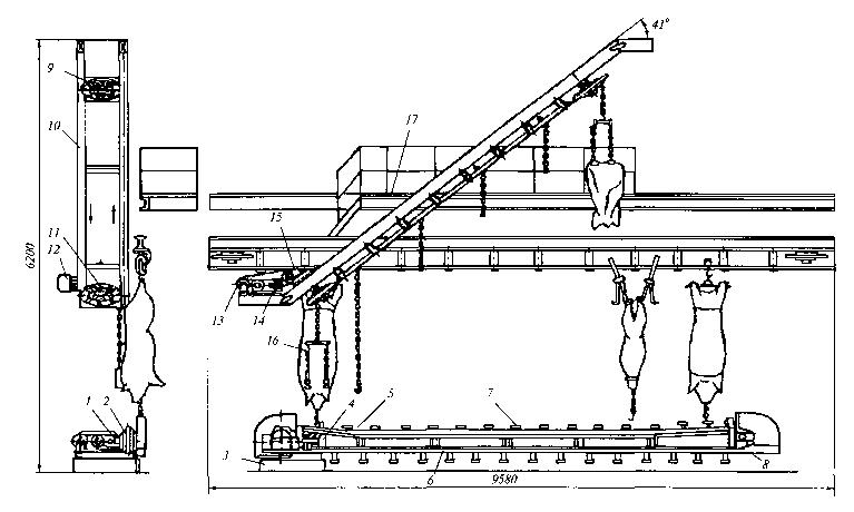 Схема установок для снятия