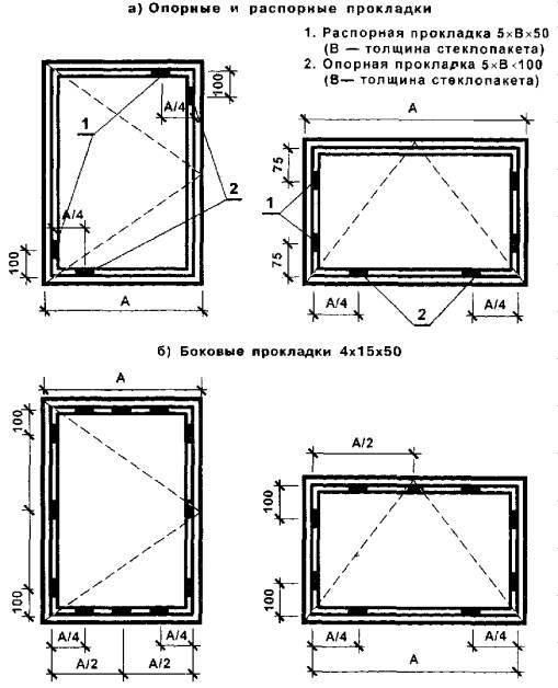 Исполнительная схема витража на металлическом каркасе
