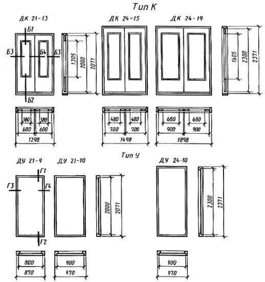 Дверной блок деревянный размеры