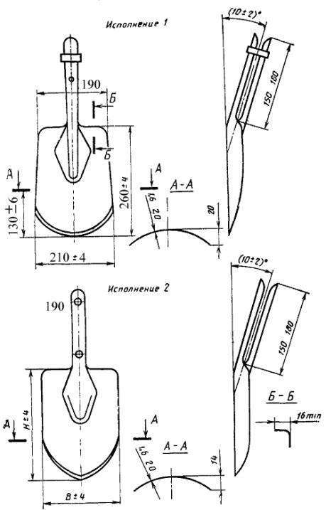 ГОСТ 19596-87 Лопаты. Технические условия
