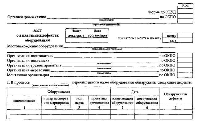 акт приема передачи исполнительной документации образец